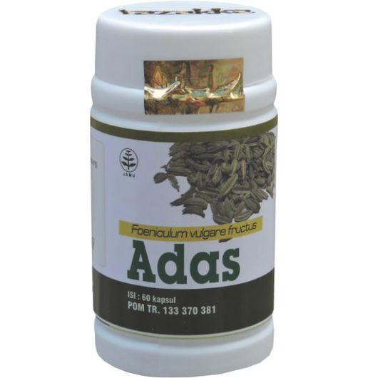 foto gambar produk herbal tazakka herbal sukoharjo manfaat tanaman adas obat untuk kesehatan penyakit perut kembung dan gangguan lambung secara alami kemasan kapsul botol
