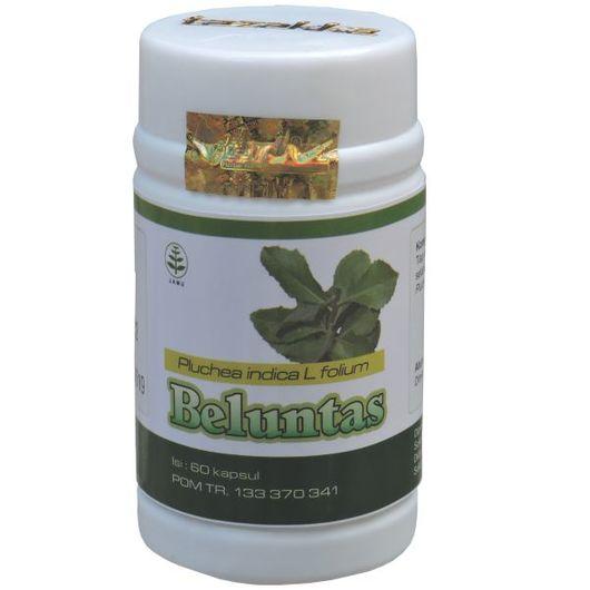 foto gambar produk herbal tazakka herbal sukoharjo manfaat tanaman daun beluntas obat bau badan bau mulut alami kemasam kapsul botol