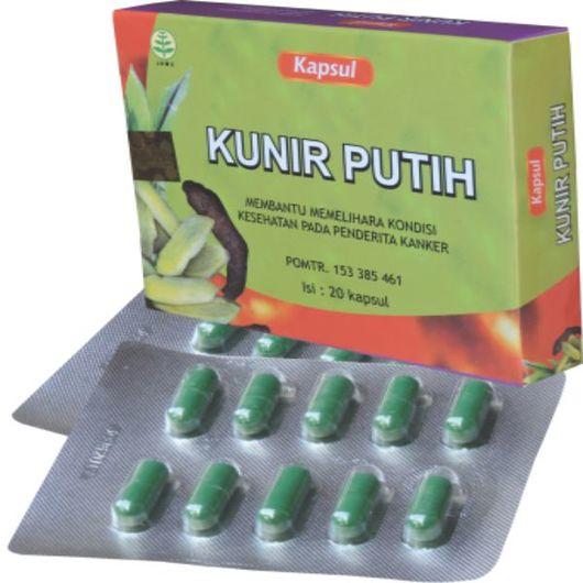 foto gambar produk herbal kunir putih tazakka herbal sukoharjo KEMASAN KAPSUL blister untuk penderita kanker