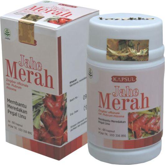 foto gambar produk herbal tazakka herbal sukoharjo manfaat tanaman jahe merah obat alami anti peradangan, nyeri sendi, ejakulasi dini kemasan kapsul botol