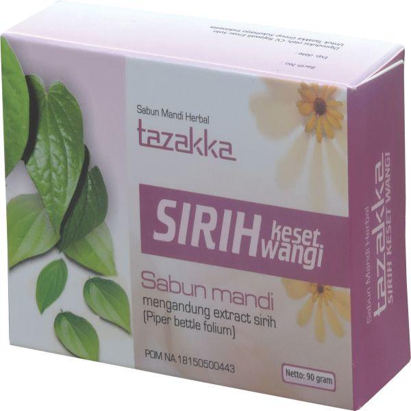 foto gambar produk herbal sabun mandi ekstrak sirih keset wangis tazakka herbal sukoharjo.