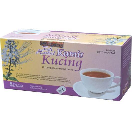 foto gambar produk herbal sukoharjo tazakka kumis kucing nyeri sendi dan susah buang air kecil kemasan teh celup