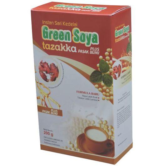 foto gambar produk susu kedelai green soya tazakka pasak bumi