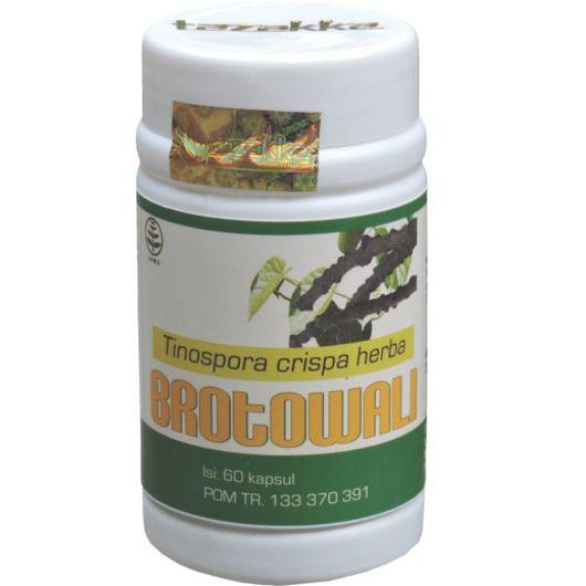 foto gambar produk herbal tazakka herbal sukoharjo manfaat tanaman brotowali obat alami diabetes kemasan kapsul botol