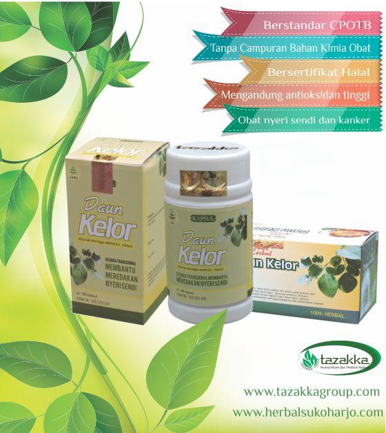 foto gambar Produk Obat Herbal Tazakka Ekstrak Daun Kelor alami aman dan tanpa efek samping