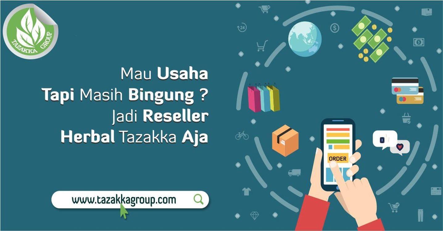 contoh foto gambar banner peluang mendapatkan penghasilan uang tambahan dari internet dengan bisnis jual produk herbal reseller dropship tazakka