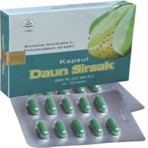 foto gambar produk herbal sukoharjo daun sirsak tazakka kemasan blister obat alami anti kanker dan tumor