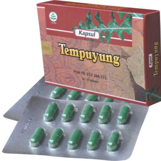 foto gambar produk herbal tempuyung tazakka herbal sukoharjo kemasan kapsul blister obat alami melancarkan buang air kecil dan ginjal