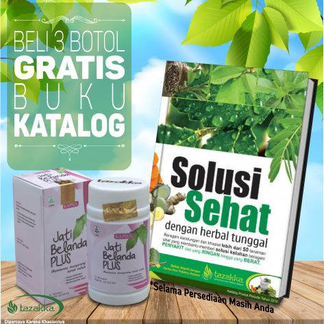 Beli herbal pelangsing tazakka dapat bonus hadiah langsung buku katalog