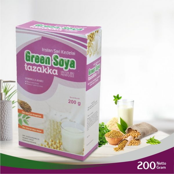 GREEN SOYA SUSU KEDELAI HERBAL TAZAKKA