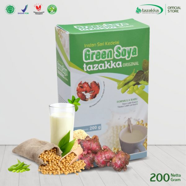 GREEN SOYA Susu sari kedelai herbal tazakka original