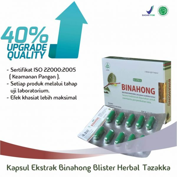 Harga Kapsul Binahong Blister Herbal Tazakka