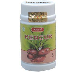 foto gambar produk herbal tazakka herbal sukoharjo manfaat tanaman kencur obat alami batuk berdahak asma kemasan kapsul botol