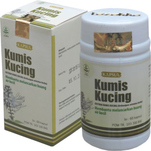 foto gambar produk herbal sukoharjo tazakka kumis kucing nyeri sendi dan susah buang air kecil kemasan kapsul botol
