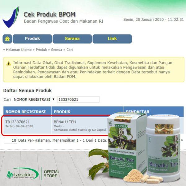 Kapsul Benalu Teh Original BPOM Halal