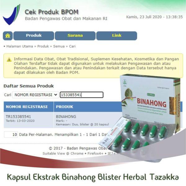 Kapsul Binahong Blister Tazakka Original Halal BPOM