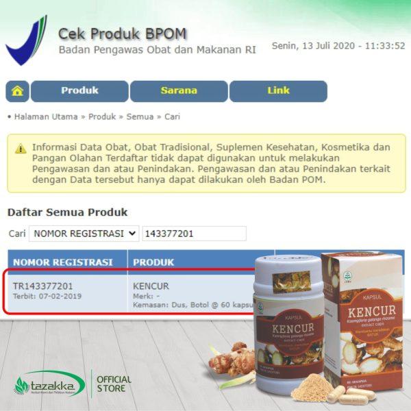 Kapsul Kencur Original Halal BPOM