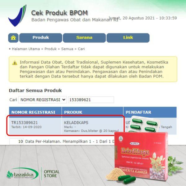 Keladi Tikus Blister Kapsul Keladikaps Herbal Tazakka Original Halal BPOM