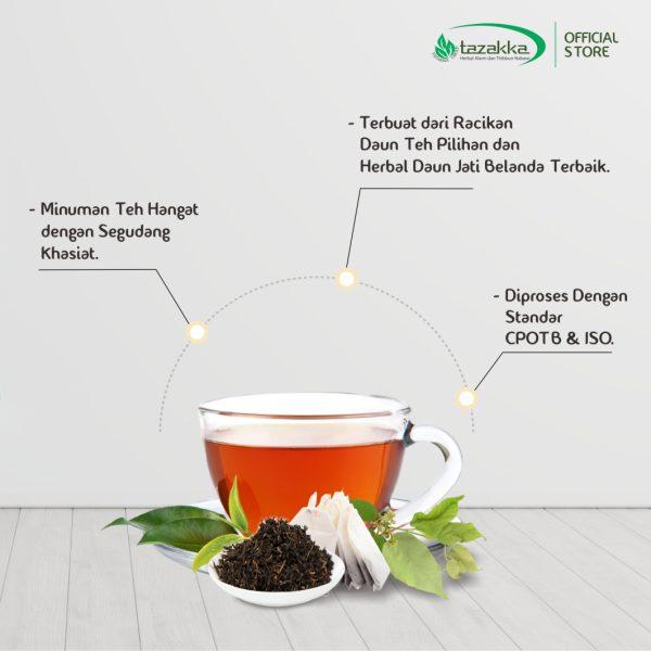 Minuman Herbal Teh Peluntur Lemak Tubuh Alami Daun Jati Belanda
