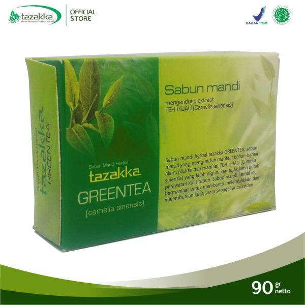 Jual Sabun Mandi Herbal Green Tea Teh Hijau Detox Kulit Herbal Tazakka