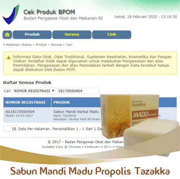Sabun Madu BPOM