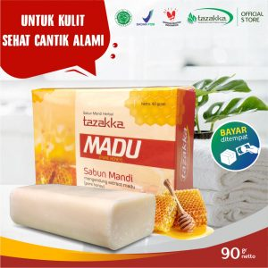 Sabun Mandi Batang Ekstrak Madu Propolis Herbal Tazakka Official Store 90 gr Pelembab Kulit Soap Bar COD