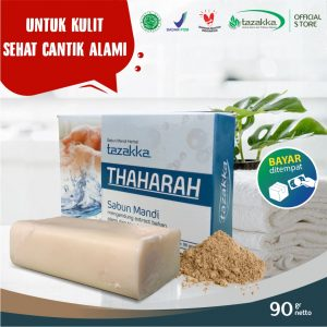 Sabun Mandi Batang Thaharah Tanah Liat Herbal Tazakka Official Store Skin Care Soap Bar Anti Gatal COD
