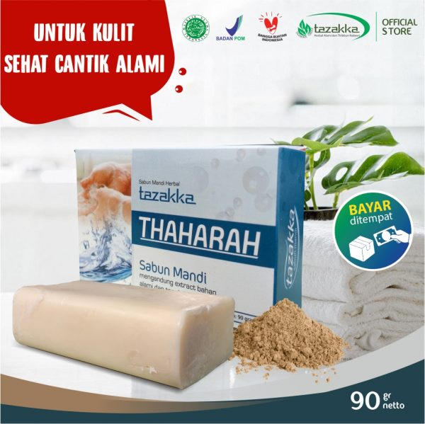 Sabun Mandi Batang Thaharah Tanah Liat Herbal Tazakka Official Store Skin Care Soap Bar Anti Gatal COD