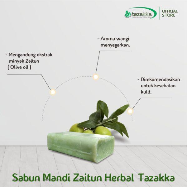 Sabun Mandi Batang Zaitun Herbal Tazakka