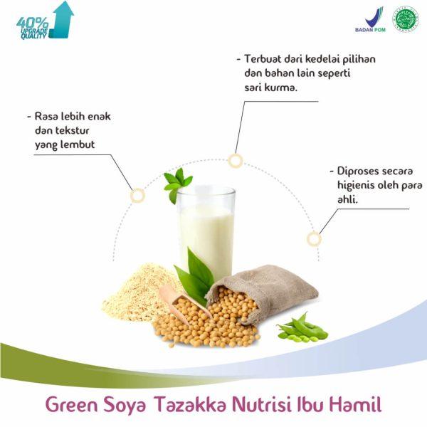 Susu Bubuk Kedelai Green Soya Bumil Herbal Tazakka