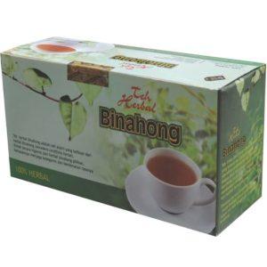 foto gambar produk kapsul herbal binahong kemasan teh untuk mengobati luka pasca operasi