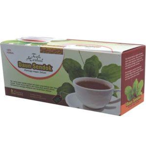 foto gambar produk herbal manfaat daun sendok mwngTai ganguan kencing dan nyeri sendi
