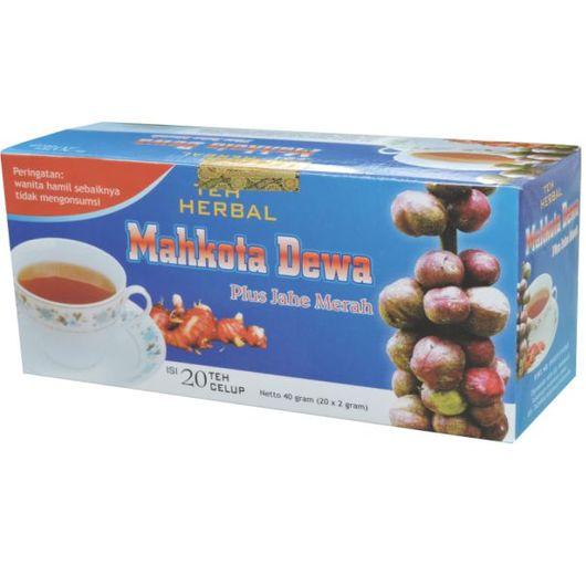 foto gambar produk herbal sukoharjo tazakka mahkota dewa untuk nyeri sendi dan pegal linu kemasan teh celup