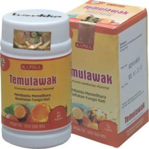 foto gambar produk herbal temulawak kemasan kapsul botol tazakka herbalsukoharjo