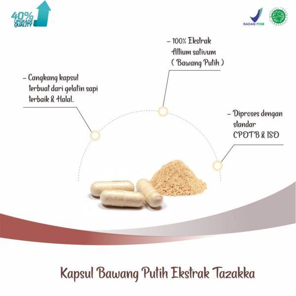 Tazakka Bawang putih Ekstrak Obat Herbal Kolesterol dan Antiradang 60 Kapsul 1