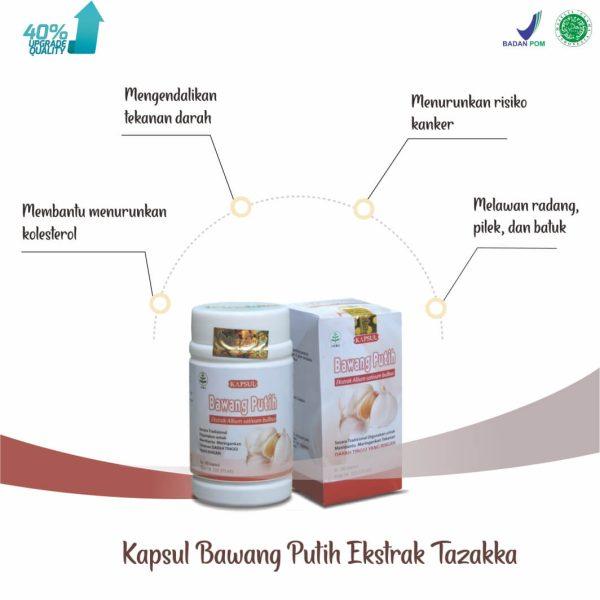Tazakka Bawang Putih Ekstrak Obat Herbal Kolesterol dan Antiradang 60 Kapsul 2