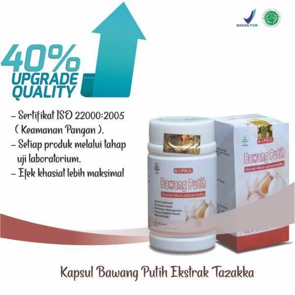 Tazakka Bawang Putih Ekstrak Obat Herbal Kolesterol dan Antiradang 60 Kapsul