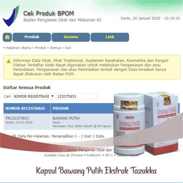 Tazakka Bawang Putih Ekstrak Obat Herbal Kolesterol dan Antiradang 60 Kapsul BPOM