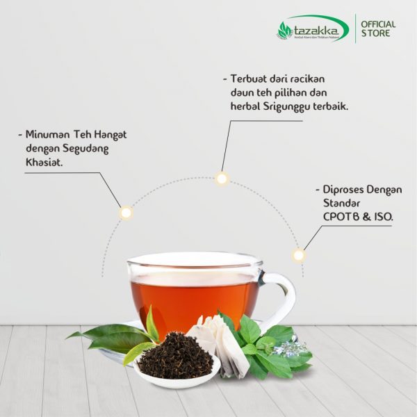 Teh Celup Srigunggu Herbal Tazakka Senggugu