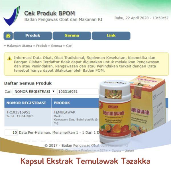Temulawak original bpom