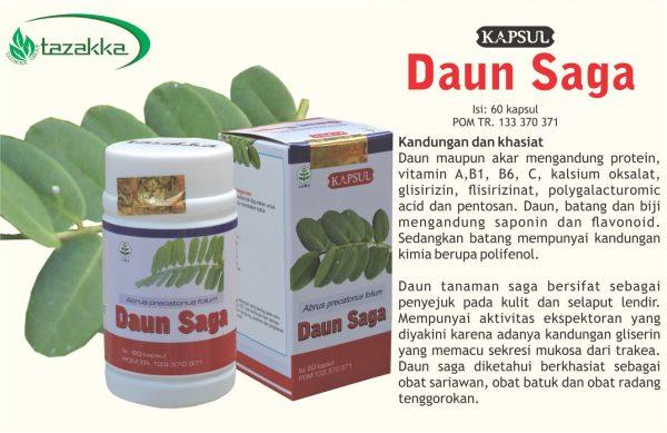 contoh foto gambar katalog produk jual obat sariawan yang ampuh dengan daun saga herbal Tazakka
