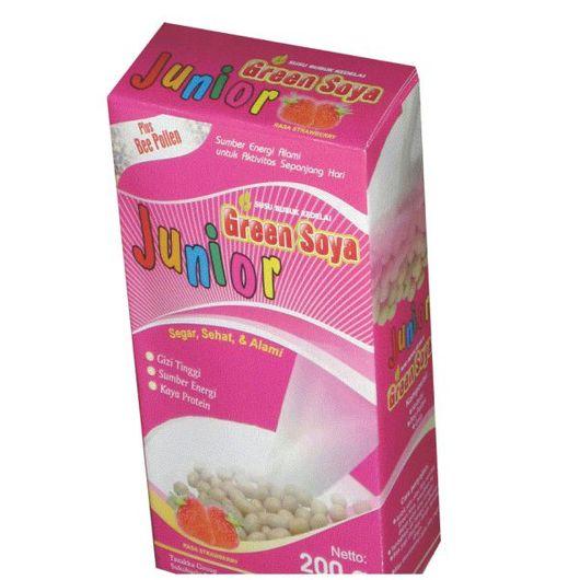 foto gambar produk susu kedelai green soya tazakka khusus anak