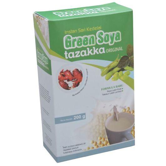 foto gambar produk susu kedelai green soya tazakka rasa original