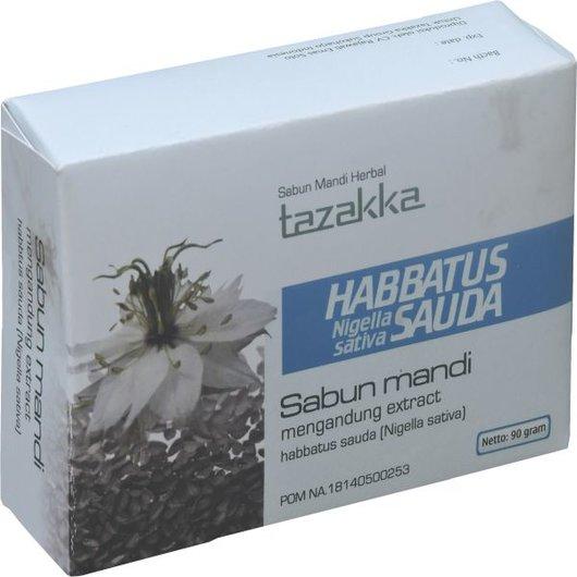 foto gambar produk herbal sabun mandi ekstrak habbatus sauda tazakka herbal sukoharjo.