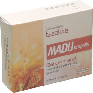 foto gambar produk herbal sabun mandi ekstrak madu propolis tazakka herbal sukoharjo.