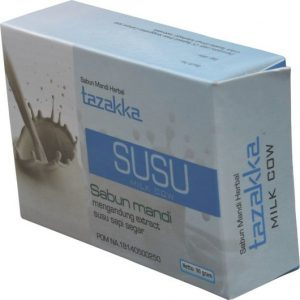 foto gambar produk herbal sabun mandi ekstrak susu sapi tazakka herbal sukoharjo.