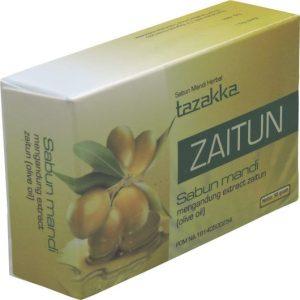 foto gambar produk herbal sabun mandi ekstrak zaitun tazakka herbal sukoharjo.