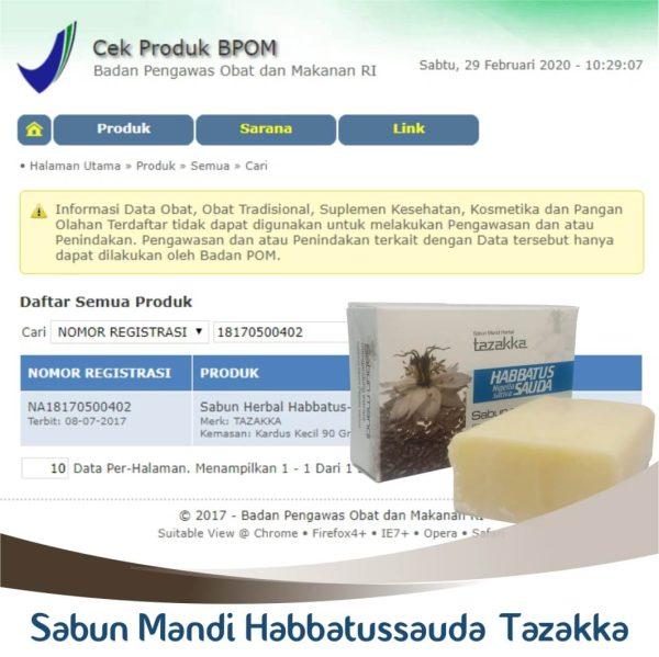 sabun habbatussauda BPOM