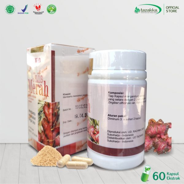 zingiber officinale extract capsules Jahe Merah