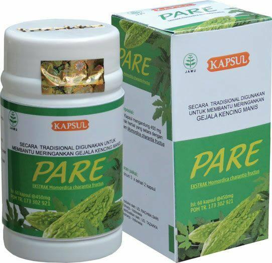 foto gambar produk herbal tazakka herbal sukoharjo manfaat tanaman pare obat untuk kesehatan penyakit diabetes kencing manis secara alami kemasan kapsul botol